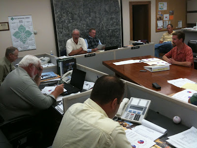 David Patterson Presented 3 Plans To Pay For County Road Improvements.<br /> (KCII's Chance Dorland)