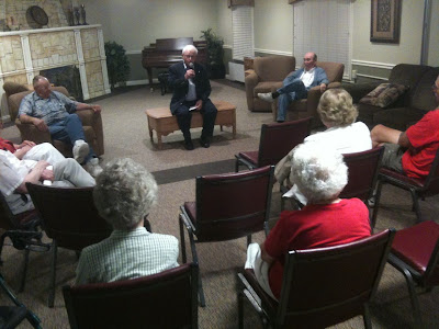 State Representative Larry Marek Held A Public Forum Tuesday At The Halcyon House In Washington.<br /> (KCII's Chance Dorland)