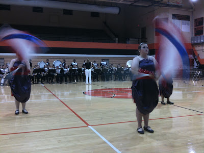 Thursday's WHS Marching Band Performance In The High School Gym.<br /> (KCII's Chance Dorland)