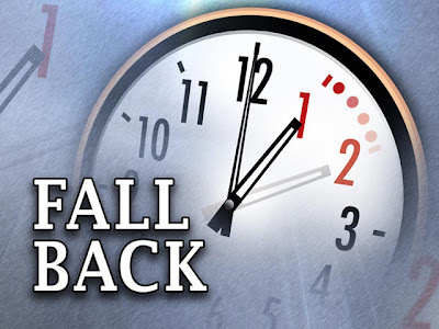 Clocks to be set back 1 hour on Sunday morning at 2AM.