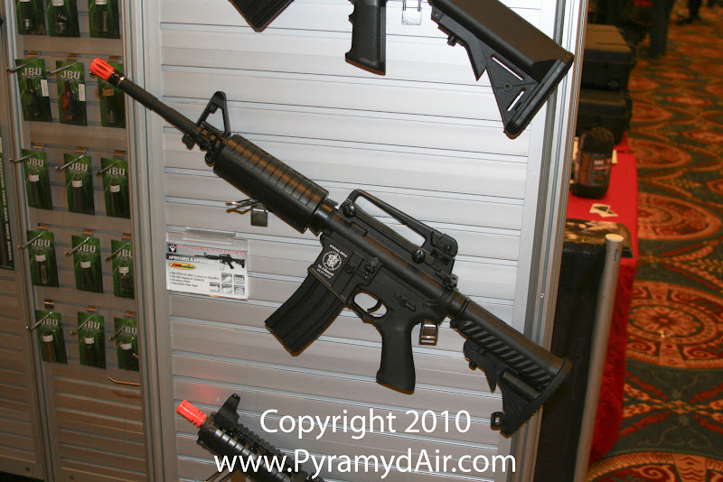 Airsoft Guns, Accuracy Pneumatics Shooting, Team SD, TSD, Shot Show 2011 News Updates,Shot Show 2011 TSD Booth, APS Electric Blowback Airsoft Rifle,Airsoft Automatic Electric Guns, Airsoft EBBR, Airsoft AEG,Pyramyd Air, Pyramyd Airsoft Blog, Airsoft Obsessed, Airsoft Blog