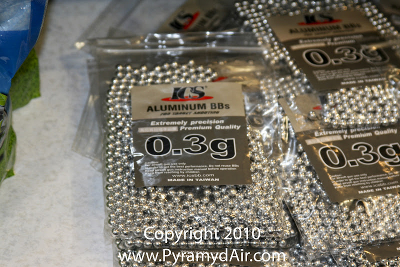Airsoft Guns, ICS, Shot Show 2011 News Updates, Shot Show 2011 ICS Booth, ICS Airsoft BBs, .30g Airsoft BBs,Airsoft Ammo, Airsoft Aluminum BBs,Airsoft BBs, Pyramyd Air, Pyramyd Airsoft Blog, Airsoft Obsessed, Airsoft Blog