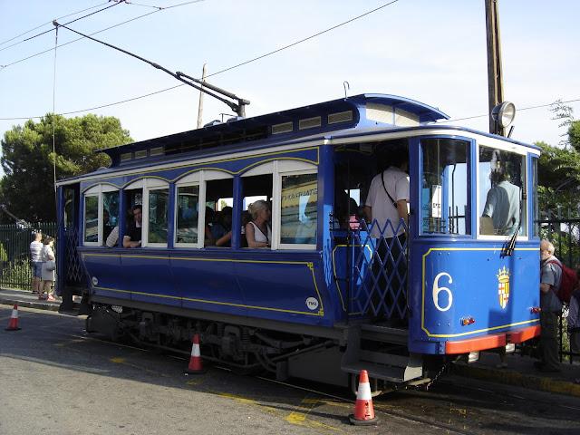 Barcelona Blauwe Tram
