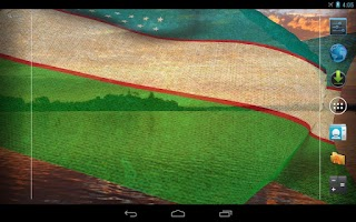 Screenshot of 3D Uzbekistan Flag LWP