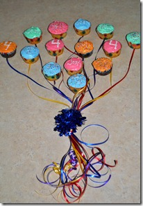 balloon boquet cupcakes