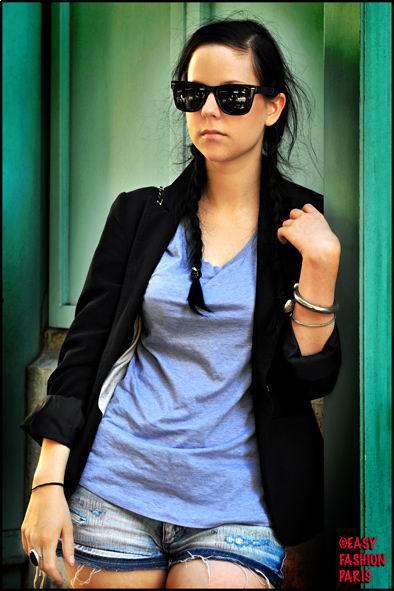 black hair with long braid