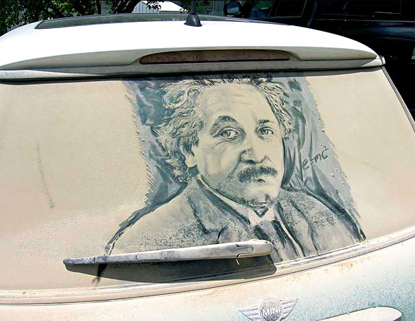 Unusual Dirty Car Art By Scott Wade Bored Panda - Scott wade makes wonderful art dusty car windows