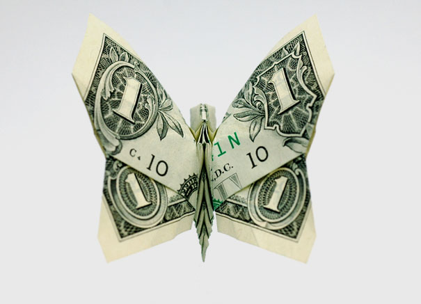 20 Cool Examples Of Dollar Bill Origami Bored Panda