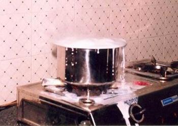 milk boil over