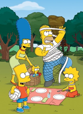 THE SIMPSONS: (L-R) Marge, Bart, Maggie, Homer and Lisa return for the 22nd season premiere airing Sunday, Sept. 26 (8:00-8:30 PM ET/PT) on THE SIMPSONS on FOX.  THE SIMPSONS ™ and © 2010 TTCFFC ALL RIGHTS RESERVED.