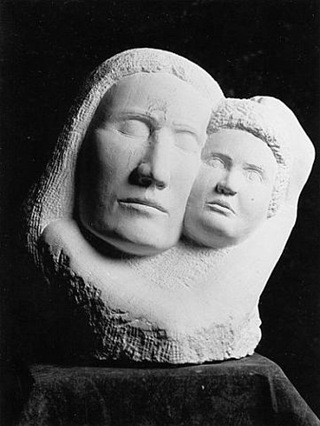 Mother and Child - limestone