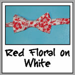 red floral on white