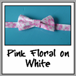 pink floral on white