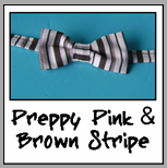 preppy pink & brown stripe