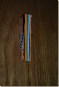 clothes pin with ribbon