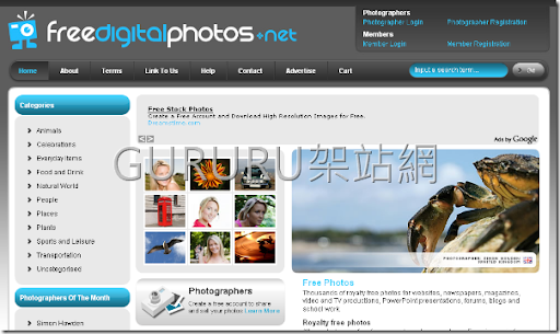 所以,在這裡我們介紹一個不錯的免費專業相片圖庫網站freedigitalphotos.net( ...