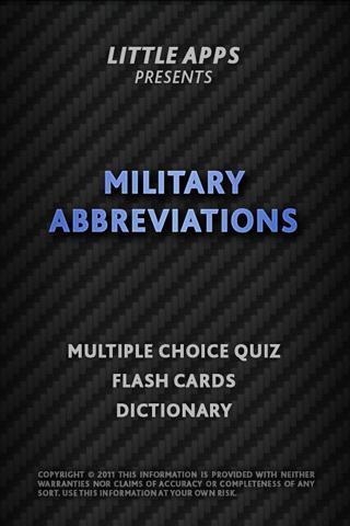 MILITARY ABBREVIATIONS