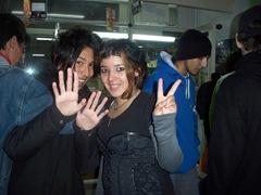 Sakura y Yagami (con 17 años)