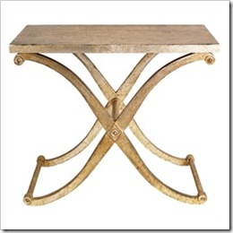 5228m Rusted Silver X Console Table