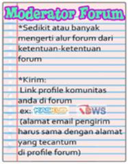 Persyaratan Moderator Forum