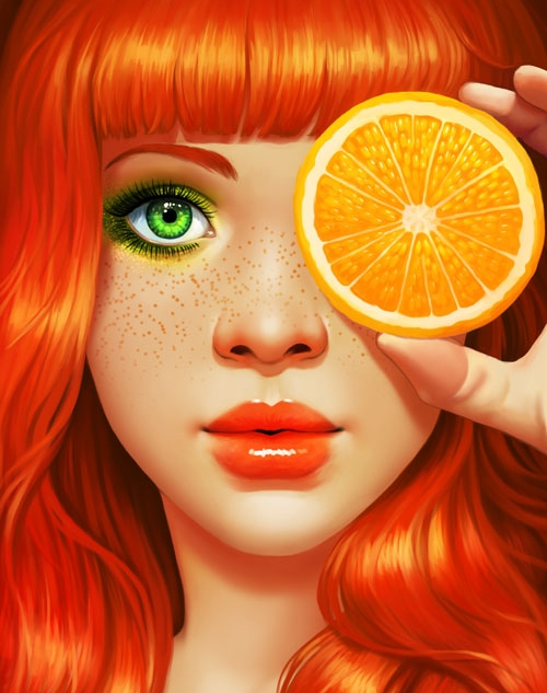Red Orange Girl