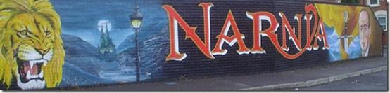 CS Lewis Narnia mural East Belfast - Narnian trail