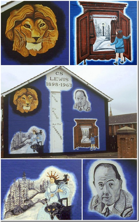 Narnian trail - Convention Place Mural Belfast CS Lewis Lion the witch and the wardrobe Narnia