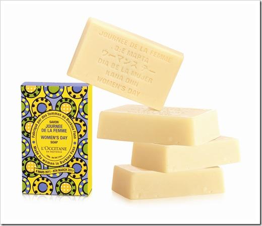 לאוקסיטן- סבון ליום האישה הבינאלומי