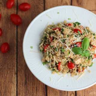 Easy Chicken Salad with Quinoa, Tomatoes, Lemon and Basil