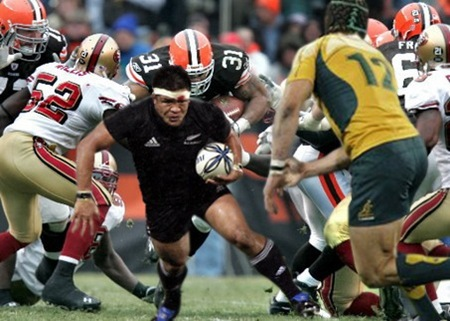 Rugby Union-American Football Hybrid