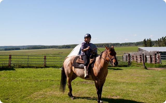 Claire Riding Rosie
