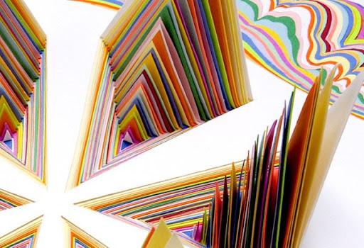 ورق ملون تابلوهات فنيه مجسمه