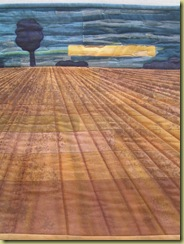 Ploughed field hanging