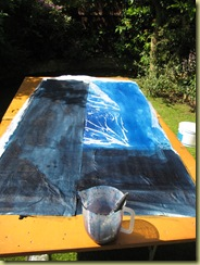 then goes on the black dye