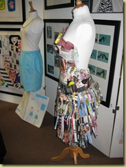 dress made from magazine cuttings
