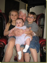Dad, Isablla, Millie and Oliver 22.5.10