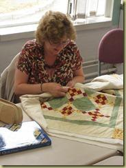 Basildon P&Q Jenny's first quilt