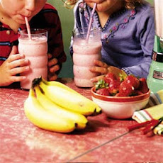 Double Strawberry-Banana Shake