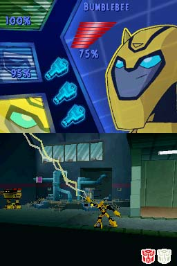bumblebee in ds transformers animated the game