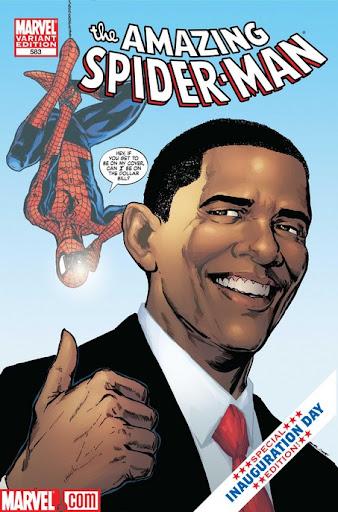 amazing spider-man 583 spidey meets obama