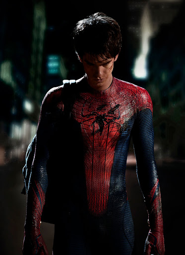 Andrew Garfield in spider-man costume