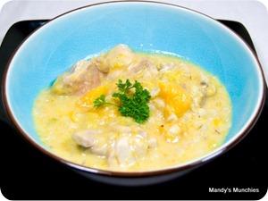 Creamy chicken hotpot