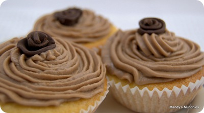 Chocolate rose cupcakes