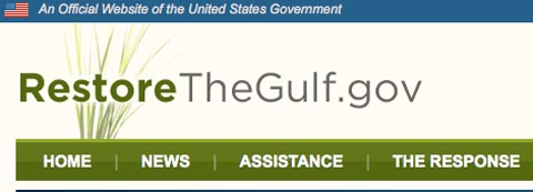RestoreTheGulf website