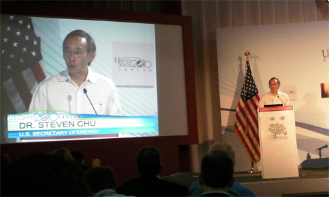 Steven Chu at climate talks