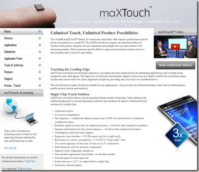Atmel Products - Touchscreens - Unlimited Touch, Unlimited Product Possibilities