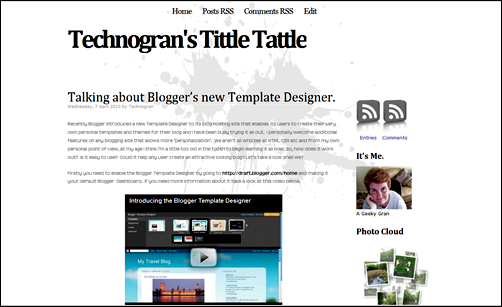 Blogger tittle tattle blog