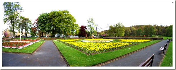 The Park Flowerbeds in Spring