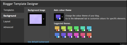Choose a colour theme