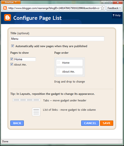 Setting up your Pages